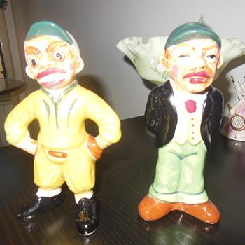 Vintage ceramic baseball figurines - Figurines
