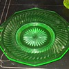 "12"" Depression Glass Platter Imperial Glass Twisted Optic Pattern"