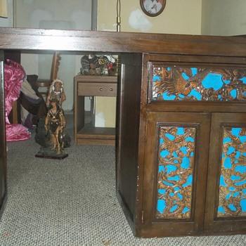 Falcon & Dragon Carved Desk - Furniture