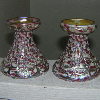 Victor Durand candlestick holders - Art Glass