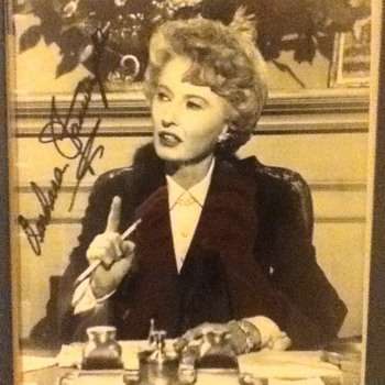 Barbara Stanwyck Autographed Still - Movies