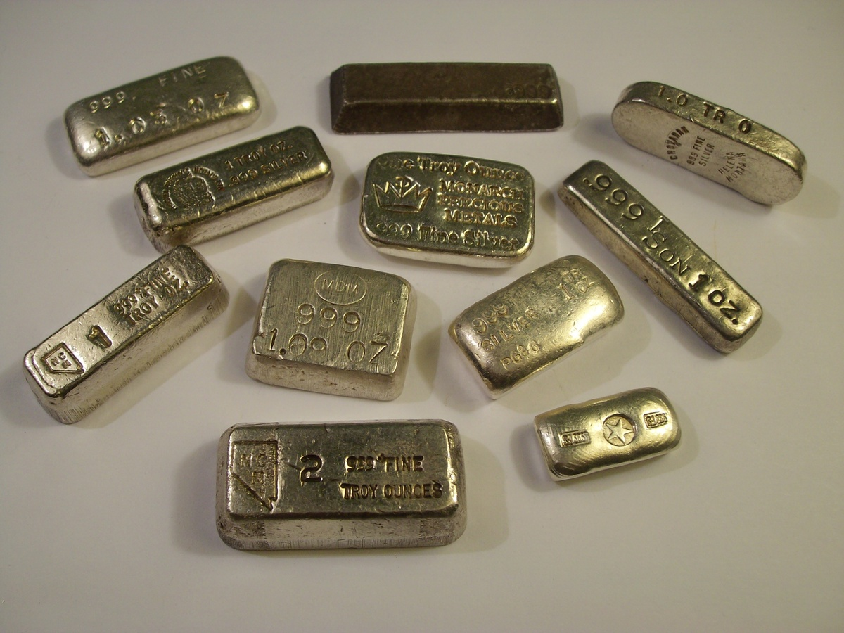 Misc Small 1 Ounce 999 Silver Bars Quot Old Pour