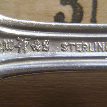 Sterling Berry Spoon?  Need help identifyng mark - Silver