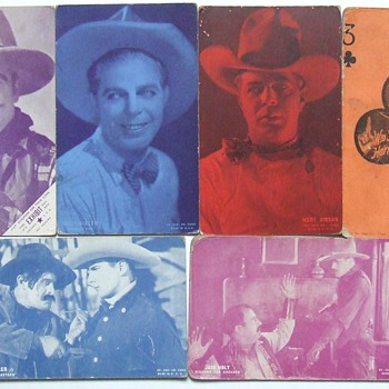 Old Western Movie Star Arcade Cards