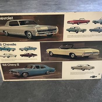 1968  Chevelle , 1968 impala , 1971 Vega , 1968 Chevy 2 .new car  dealer posters  - Classic Cars