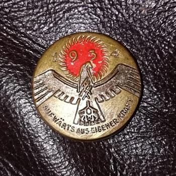 German Aufwärts Aus Eigener Kraft 1934 badge. - Medals Pins and Badges