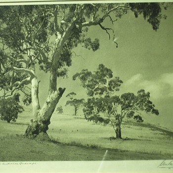 "South Australian Landscape""Unreadable,1939"""