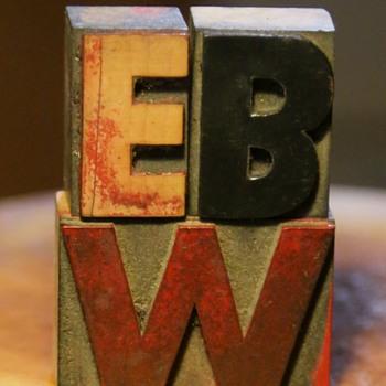 EBW - Letterpress logo for East Bay Wilds