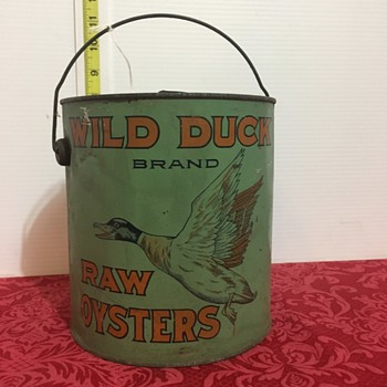 Rare oyster can - Advertising