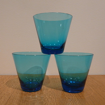 SAPPHIRE BLUE GLASSES. - Art Glass