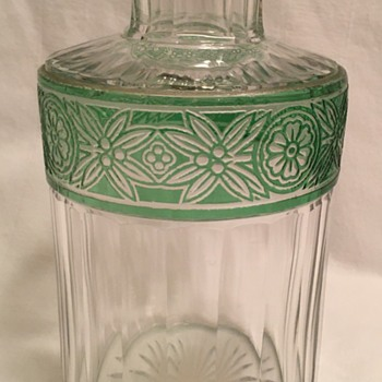 Hand blown cut glass overlay-cased-cut to clear - Art Glass