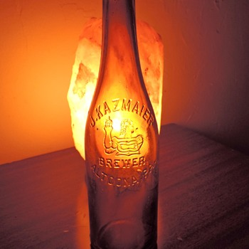 J. Kazmaier Brewing Altoona, PA Beer Bottle Embossed Vintage Amber Brown D.O.C. Dominick O. Cunningham Glass Pre-Pro - Bottles