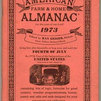 1973 - American Farm & Home Almanac - Paper