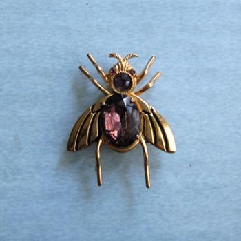 Coro purple glass bug circa 50's-60's