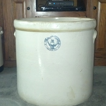 30 Gallon Buckeye Pottery Crock - Pottery