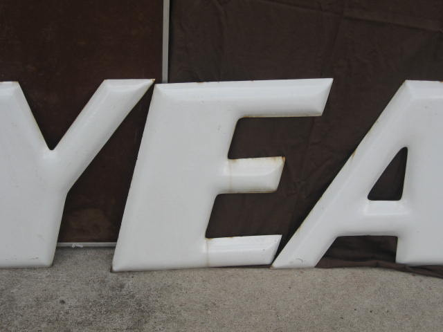 Goodyear Porcelain Letters With Winged Foot Collectors Weekly