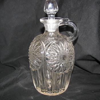 unsolved mystery cruet  PRESSED GLASS
