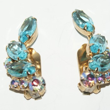 Vintage Clip-On Earrings - Costume Jewelry