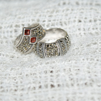 Sterling Silver Marcasite Rings - Fine Jewelry
