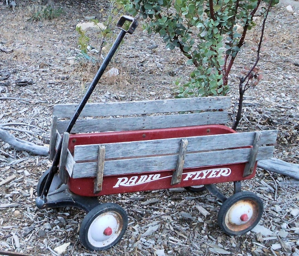 Vintage Radio Flyer With Wood Sides Collectors Weekly