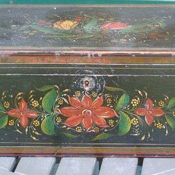 Paint Decorated Document Box Early To Mid 19th Century - Victorian Era