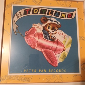 1952 Disney Peter Pan Records Let's Go To Toyland Rare Wall Art. - Advertising