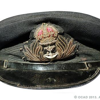 WW2 Royal Navy Chaplain's visor cap
