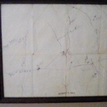 Hand drawn map of moonshine steals. - Fine Art