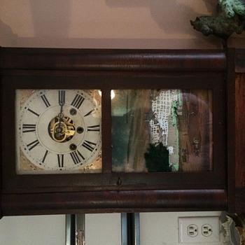 """My Daniel Pratt Jr. Reverse painted """"United States Hotel Saratoga"""" wall clock - Clocks"""