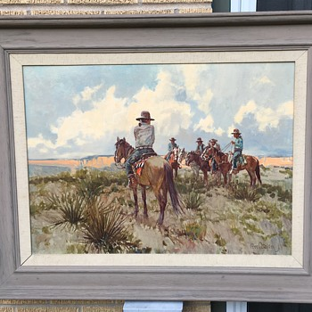 "Vintage Framed Oil on Canvas ""COAL MINE MESA"" signed and dated 1968 Ross Stefan - Fine Art"