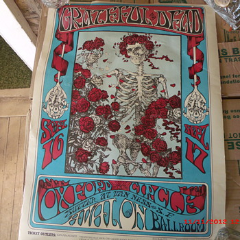 My Grateful Dead at Avalon Ballroom Poster (RP 006) Kelley/Mouse - Music Memorabilia