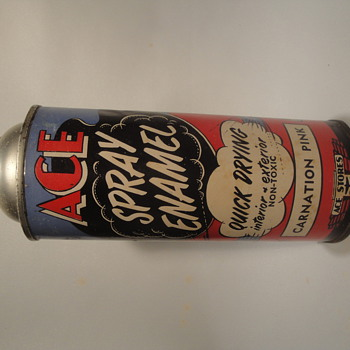 Vintage spray paint cans that I collect - Advertising
