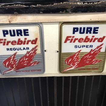 Pure gasoline pump plates  - Advertising