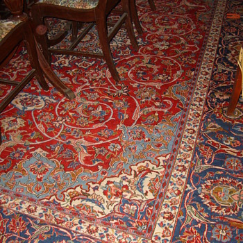Antique Persian Carpet 9+ x 12 - Victorian Era