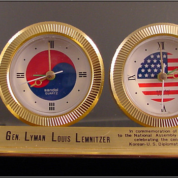 Joint Chiefs of Staff General Lyman Lemnitzer Clock - Clocks