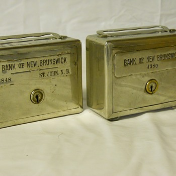 """Promotional Advertising Steel Bank""""The Bank Of New Brunswick, Saint-John,NB""""Circa before 1913 - Coin Operated"""