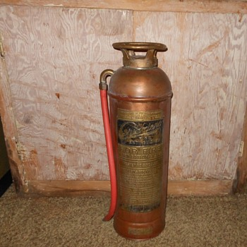 Vintage Guardene Fire Extinguisher Copper and Brass Patent 1924 - Firefighting