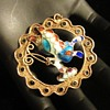 Vintage Chinese export gilt silver pendant