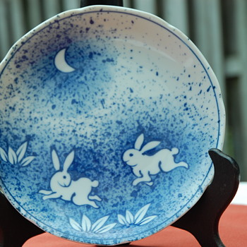 Hares in the Midnite Garden  - Pottery