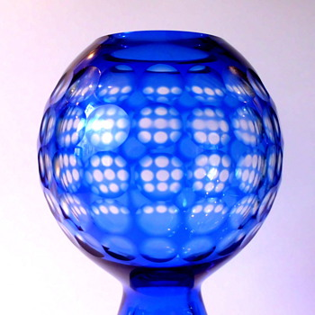 Vase by Marita Voigt Harzkristall early 70's - Art Glass