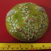 antique cosmetic powder box porcelain asian chrysanthemum