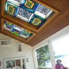 stained glass under my two 10X 10 skylights on porch around the masterBR and LR