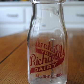 Richard's Dairy Milk Bottle- St. Johns, MI