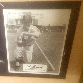 Rawlings Sporting Goods Promotion Photo Of Stan Musial