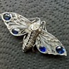 Big 935 sterling moth brooch marked W B