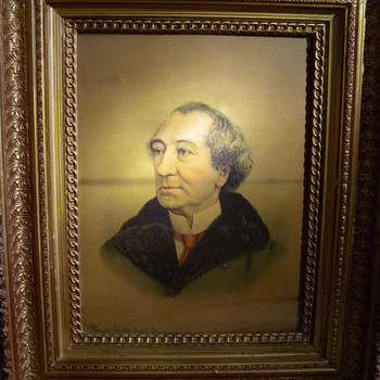 1891 Signed Chromolithograph Portrait of Sir John.A.MacDonald