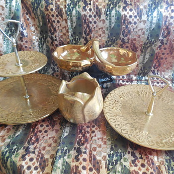 Vintage Stangl Pottery Granada Gold Pieces For Saint Patrick's Day! :^D - Pottery