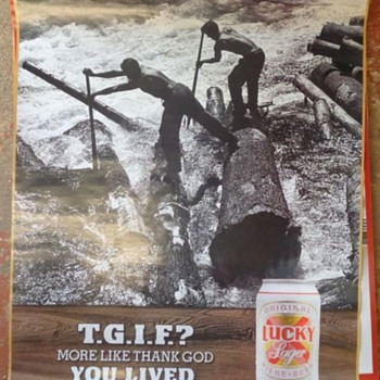 Lucky Lager Beer  Logging Posters - Advertising
