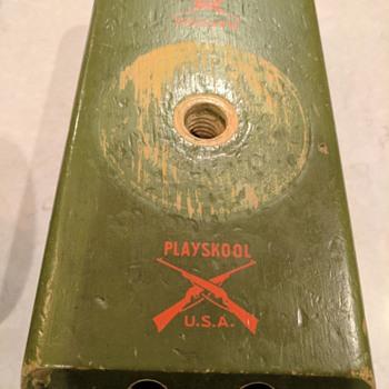 Vintage Playskool U.S.A. wooden take-apart tank - Toys