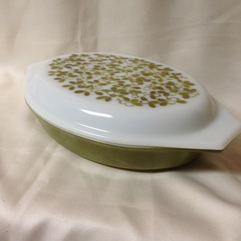 "Pyrex ""Verde"" Divided Dish - Kitchen"